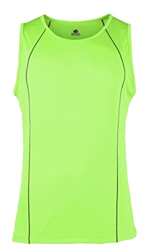 Rhino - Camiseta sin mangas - para mujer Lime/ Black