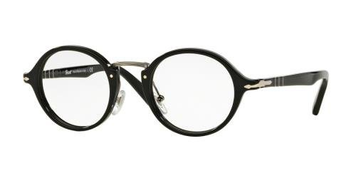 85fadf71791 Image Unavailable. Image not available for. Color  PERSOL Eyeglasses PO 3128V  95 Black 44MM