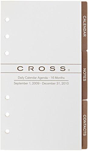 Cross Dated Personal Agenda Refill, Sept '09 - Dec '10, White - Cross Agenda Personal