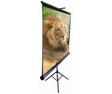 Elite Screens T100UWV1 Tripod Portable Tripod Manual Pull Up Projection Screen (100'' 4:3 Aspect Ratio) (MaxWhite)