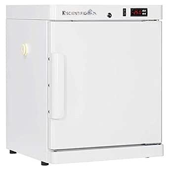 K2 Scientific - Benchtop Style Solid Door Freezer for Pharmaceuticals, Vaccines & Lab Equipment - Medical-Grade Storage - 2 Shelves - 2.5 Cu. Ft.