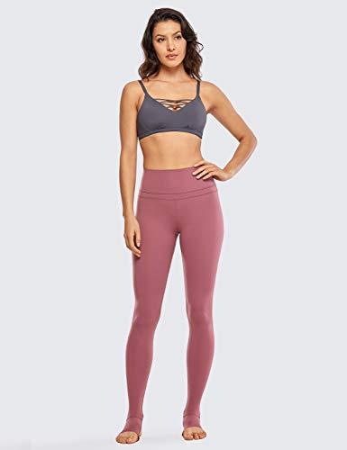 CRZ YOGA Femmes Taille Haute Pantalons Leggings Pied de Pas avec Pochette de Clé- 71cm