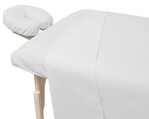 Review American Pillowcase, Massage Table Sheets Set, Luxury Spa Quality Linens, White, 3 piece