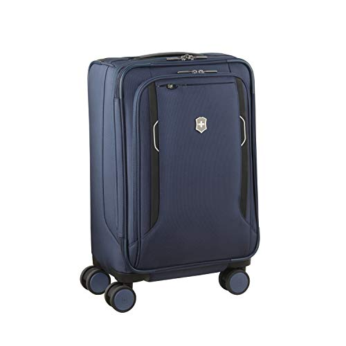 Victorinox Werks Traveler 6.0 Frequent Flyer Softside Carry-On Spinner Suitcase, 21-Inch, Blue