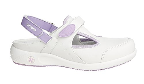 Oxypas Move Carin Slip-resistant, Antistatic Nursing Shoes, White (Lic) , 5 UK (EU: 38)