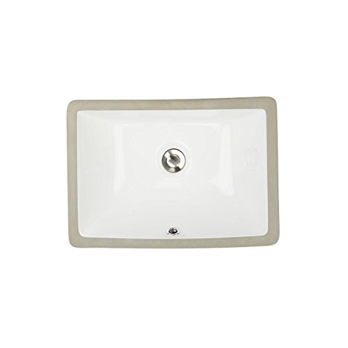 - Highpoint Collection Petite 16x11 Rectangle Ceramic Undermount Vanity Lavatory Sink