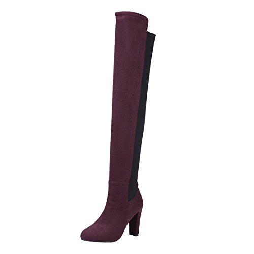 AIYOUMEI Classic Boot Women's Wine Red ggZBxrw