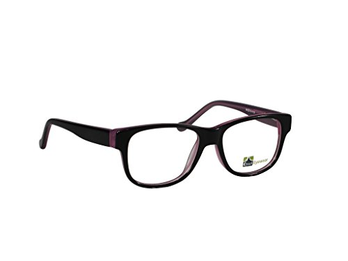 ES76 Round Oval Eye Glasses Acetate Full Frame (Purple, 44)