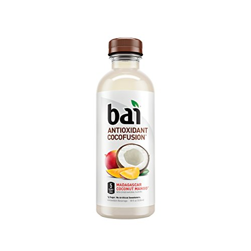 Bai Coconut Flavored Water, Madagascar Coconut Mango, Antioxidant Infused Drinks, 18 Fluid Ounce Bottles, 12 count