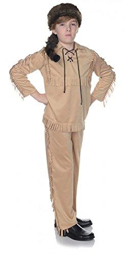 [Children's Frontier Costume - Tan, Small] (Frontier Boy Davy Crockett Child Costumes)