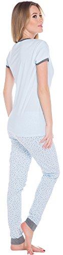 Italian Fashion IF Pijama para mujer Zelda 0230 Azul