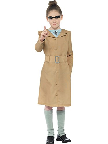 Smiffy's Girls Miss Trunchbull Roald Dahl Fancy Dress Costume Age 7-9 Years Beige (School Teacher Costume)