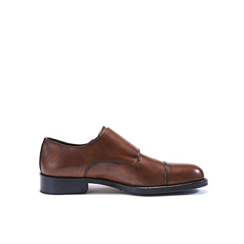 Stringata Decorazione Monk Brown Passport Francesina Uomo Marrone Scarpa con di Colore cap cap British Toe Toe Strap SnEAx