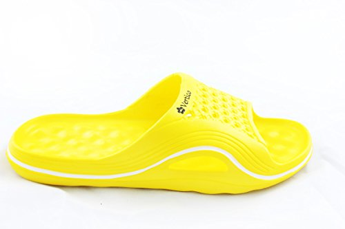 Vertico Slide-on Women's Shower and Poolside Sandal (8/9, Yellow)