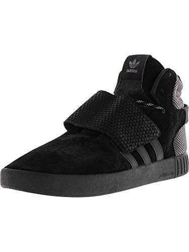Invader Strap Core Black/Footwear White High-Top Leather Basketball Shoe - 12M ()