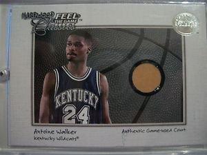 2001 Fleer Hardwood Feel The Game Antoine Walker ,kentucky!! Box 10