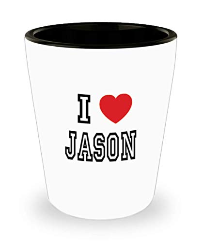 White Ceramic Shot Glass I Love Jason Mug Lover Gift Coffee Funny Idea Tea Cup Cute Ceramic Present Gag,al2959]()