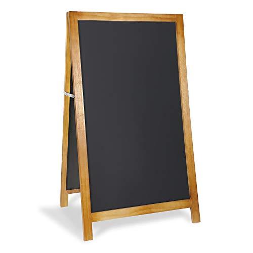 - VersaChalk Large A Frame Sandwich Board Sidewalk Chalkboard Sign, 24 x 42 Inches - Framed Outdoor Chalk Marker Blackboard Easel for Restaurant, Wedding, Coffee Shop, Bar