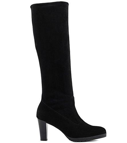 Peter Kaiser Women's Lozana Slouch Boots, Grey, 2.5 UK Black (Schwarz Suede 240)