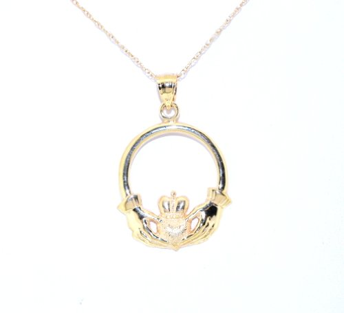 Yellow Gold Dora - 14K Yellow Gold Claddagh Charm