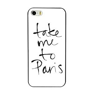 QJM Take Me To Pans Design Hard Case for iPhone 4/4S