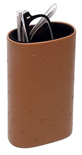 - Desktop Eyeglass Holder w/Soft Lining in Brown CA-500 by Calabria
