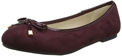 Donna Roo 15 Evans Rosso Ballerine Red vOqn1w07