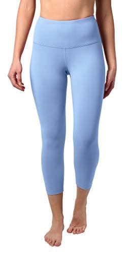 90 Degree By Reflex - High Waist Tummy Control Shapewear - Power Flex Capri - Bella Blue - Small