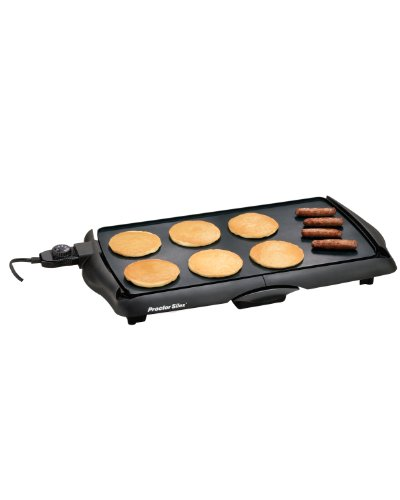Proctor Silex 200 Sq. In. Durable Nonstick Electric Griddle, Black 38513P (Cord For Electric Skillet compare prices)