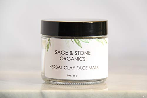 Herbal Clay Face Mask, Acne Face Mask, Organic Face Mask, All Natural Face Mask, Organic Skin Care, 2 Ounces
