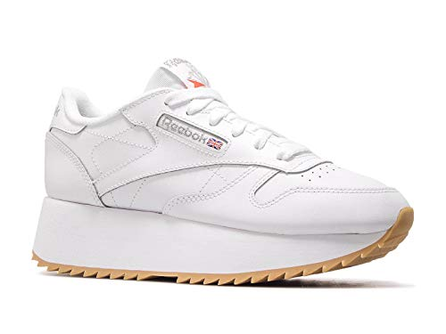 Gum Reebok Leather Dv6472 White Double Classic Womens Silver CxqwPA7Zx