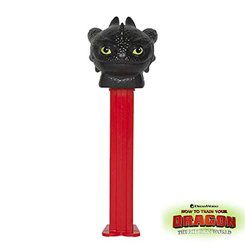 PEZ Candy DreamWorks Hiccup and Toothless How to Train Your Dragon  Dispenser - 12 Count Display Pack