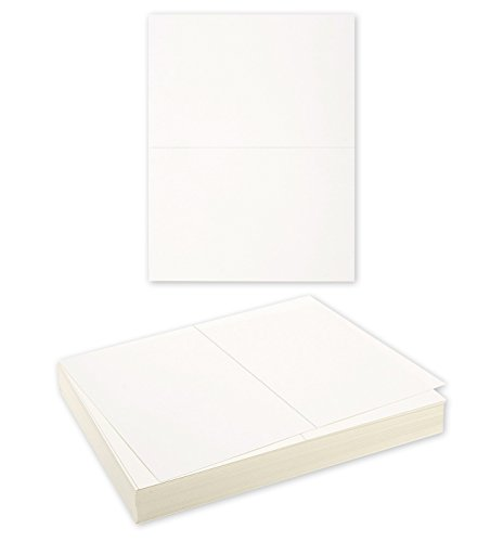 Blank Postcard Paper - 100-Sheets White Postcard Stock for Laser Printers, Blank Cardstock, Off White, 8.5 x 11 Inches, Each Postcard Measures 5.5 x 8.5 Inches.
