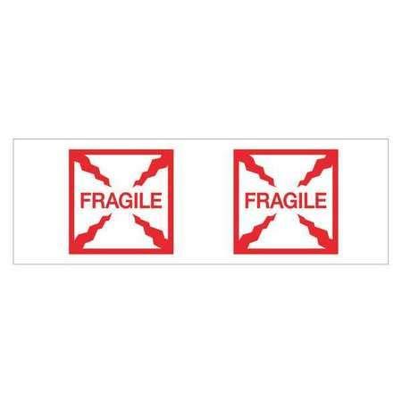 Tape, Printed, Fragile (Box), 2x55 yd, PK6