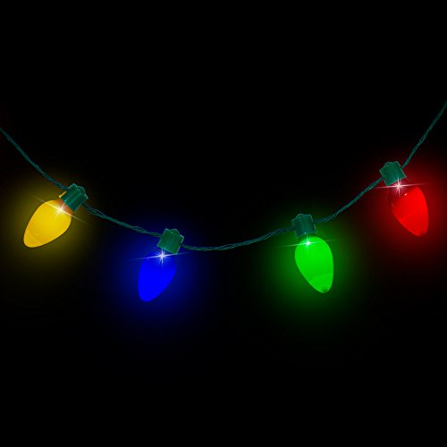 led light up christmas bulb necklace party favors