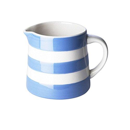 Cornishware Blue and White Stripe Stoneware Dreadnought Milk & Cream Creamer Jug 15cl/5oz