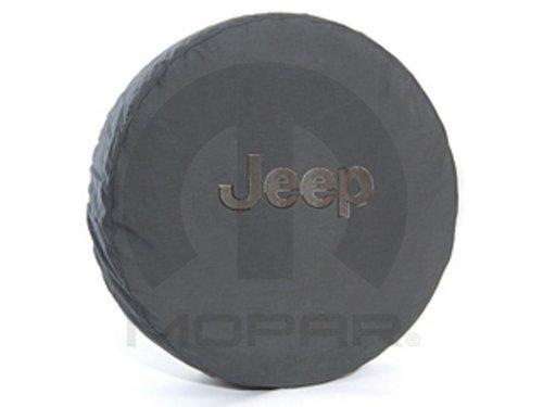 - Mopar Jeep Wrangler Black Denim W/Logo Spare Tire Cover 32-33 Inch OEM
