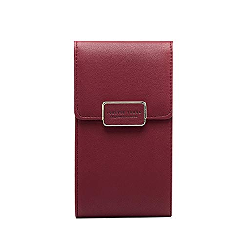Small Purse OURBAG Single Wine Phone Crossbody Shoulder Fashion Red Leather Coin Rose Wallet Bag Small Ladies Bag Bag RRBnfqr