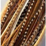 SEXY SPARKLES Extension de cheveux avec plumes superbe Remix Naturel 15,2cm - 30,4cm Plumes pour extension de cheveux Comprend 2Micro Perles en silicone.