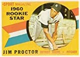 1960 Topps Regular (Baseball) Card# 141 Jim Proctor of the Detroit Tigers VGX Condition
