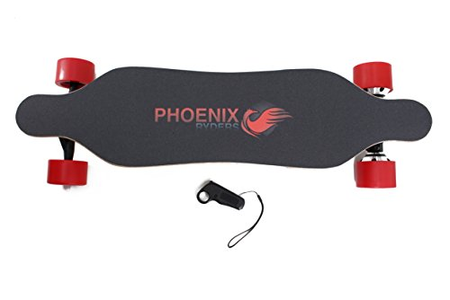 Alouette PHOENIX RYDERS Electric Skateboard 4.4AH Lithium Battery,Dual Motor Each 350W, 32 Inches Maple with Remote Control