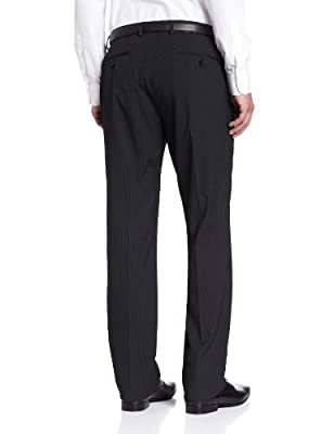 Calvin Klein Men's Black Stripe Mercy Suit