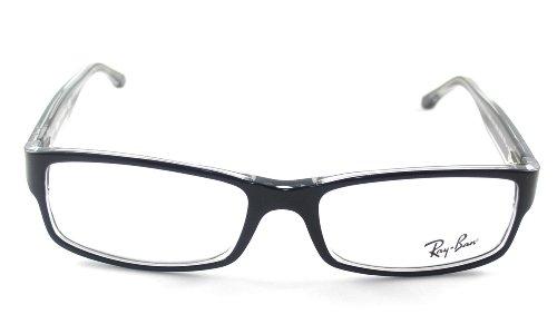 Ban RX5114 2034 Ray sobre negro Clear RX5114 transparente Gafas 52 6qnw4O