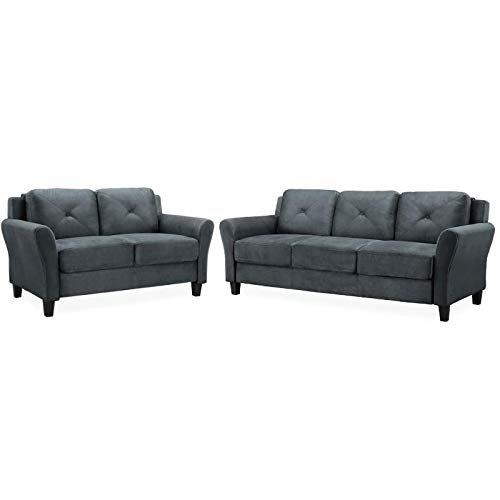 Lifestyle Solutions Transitional 2 Piece Sofa and Loveseat S