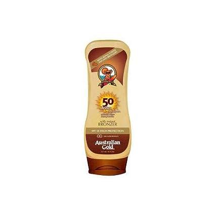 Australian gold Sunscreen spf50 lotion with bronzer 237 ml 1 ...