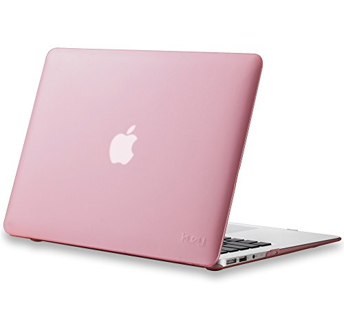 MacBook Air 13 inch Case A1466 A1369, Kuzy Rubberized Hard Cover (Older Version 2017, 2016) - PINK