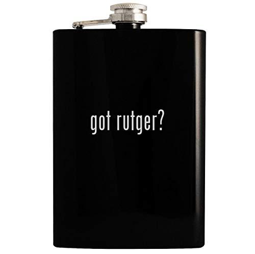 got rutger? - Black 8oz Hip Drinking Alcohol Flask