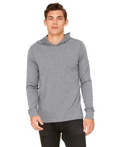 Canvas for Men's Driftwood Long-Sleeve Jersey Hoodie, DEEP HEATHER, Large Canvas Long Sleeve Jersey