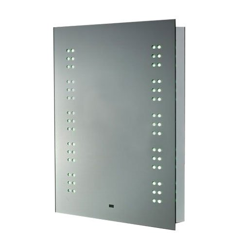 Homcom LED Illuminated Bathroom Mirror Demist Dustproof with Shaver Socket 70cm × 50cm × 6.5cm Touch Control