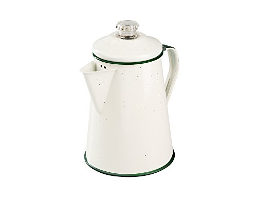 GSI Outdoors B0742HXPQ2 08354 Enamelware Percolator, Cream (Pack of 2)
